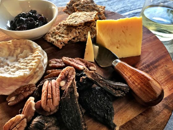 cheese platter table under a tree byron bay food delivery service